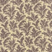 Moda Atelier by 3 Sisters - 3559 - Foliage, Traditional Floral, Plum on Cream - 44057 21 - Cotton Fabric